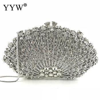 Luxury Crystal Evening Bag Handmade Rhinestones Diamonds Women Evening Bags Vintage Satin Lady Party Wedding Clutches Purses
