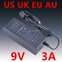 100pcs Adequate power 9V3A AC 100V 240V Converter Adapter DC 9V 3A 3000mA Power Supply DC 5.5mm x 2.1mm