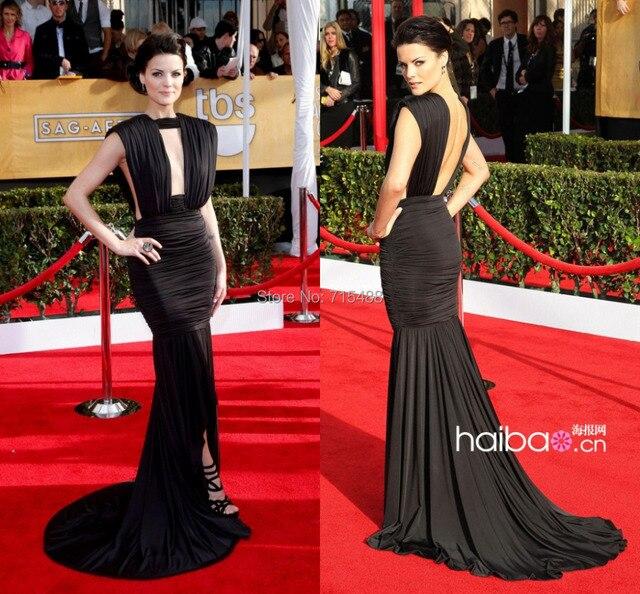 Jaimie Alexander Red Carpet Evening Gowns Imitation Black Color ...
