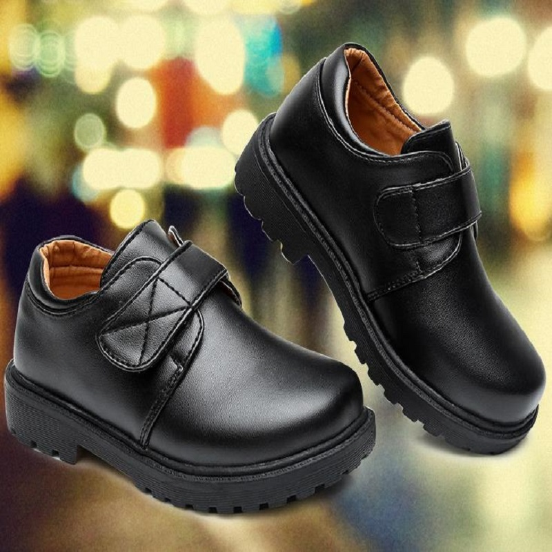 2018 NEW NICBUY Boys and girls PU shoes. Fashion shoes for young students Childrens leather shoesT562846
