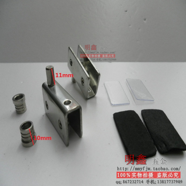 Stainless steel  cabinet        Small 2  fitted shelf clamp shower door hinge