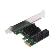 PCI-E PCI Express 1x To 4-Port Sata 3.0 III 6G Converter Controller Card Adapter(China)