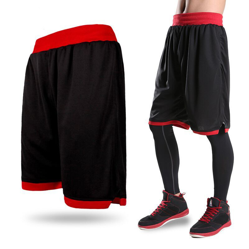 New 2017 Men's Basketball Shorts Boy Sport Running Short Trousers Training Fitness Elastic Summer Beach Gym Breathable Plus Size