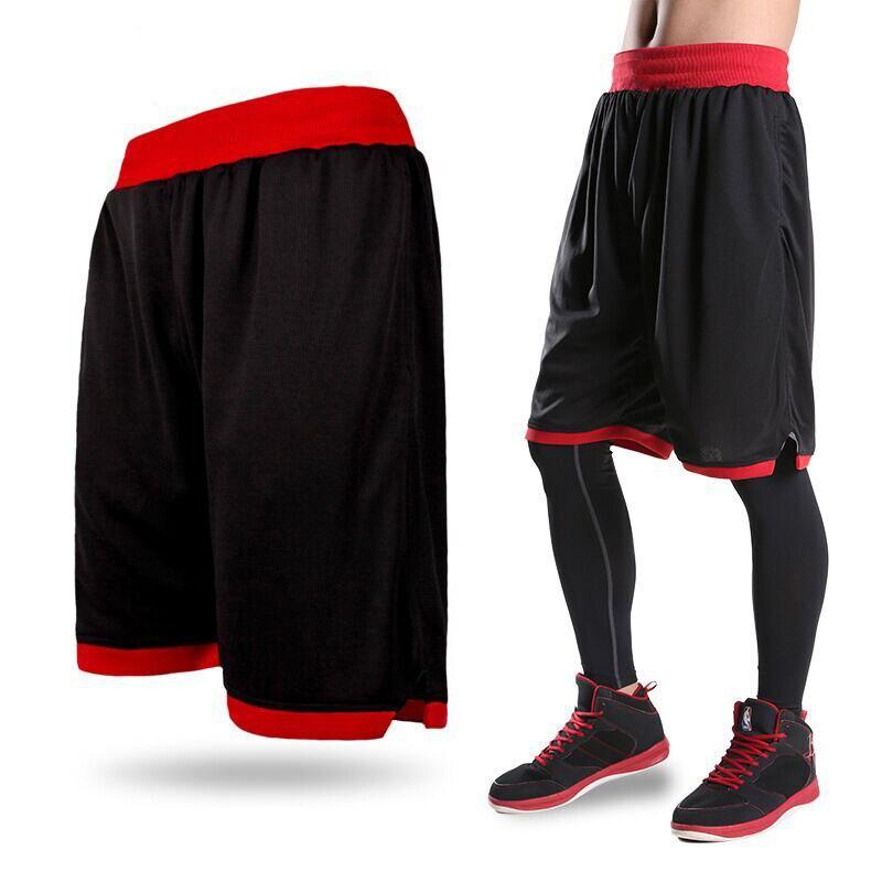 New 2017 Men's Basketball Shorts Boy Sport Running Short Trousers Training Fitness Elastic Summer Beach Gym Breathable Plus Size