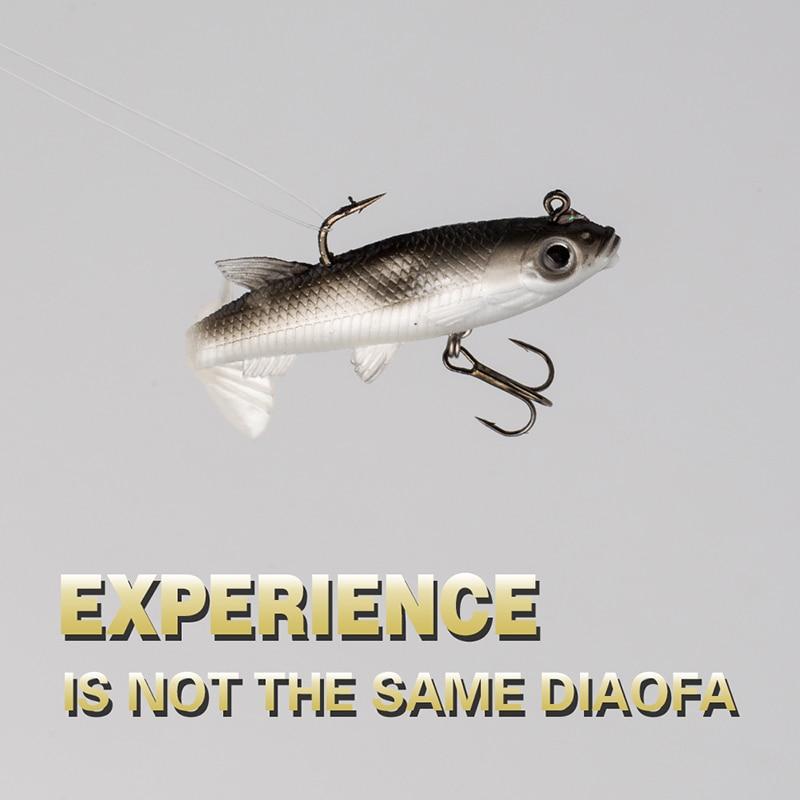 Žvejybos jaukų jig žuvis 14g 9cm juodos minkštos suvilioti - Žvejyba