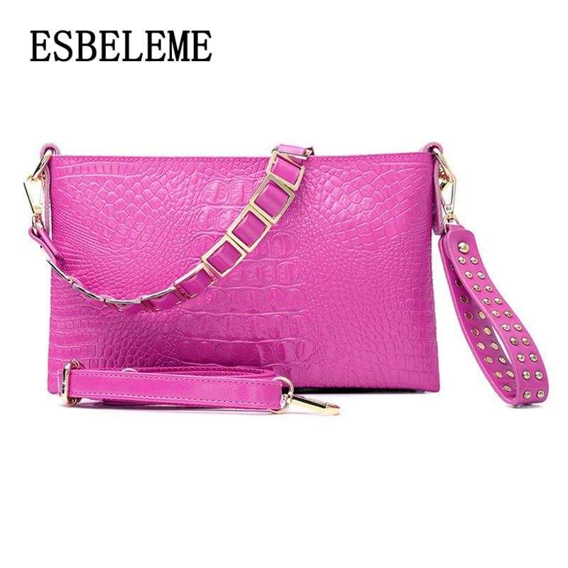 2019 Mode Split Leder Hand Tasche Für Frauen Schulter Taschen Handgelenk Tasche 3 Abnehmbaren Trägern Yi009 Modischer (In) Stil;