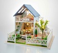24th DIY Wooden Dollhouse 3D Model Kit Miniatures Doll house- Large Villa & Furnitures/English instructions X'mas Gift