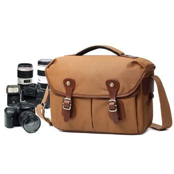 M160 Canvas Vintage DSLR SLR Camera Bag Shoulder Strap Case Casual Shoulder Messenger Pack for Canon for Sony Waterproof Bag New