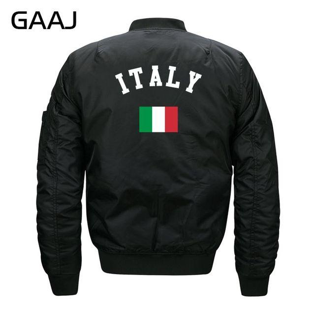 Gaaj Print Italy Flag Jackets Men Parka Baseball Jacket 6xl 7xl 8xl