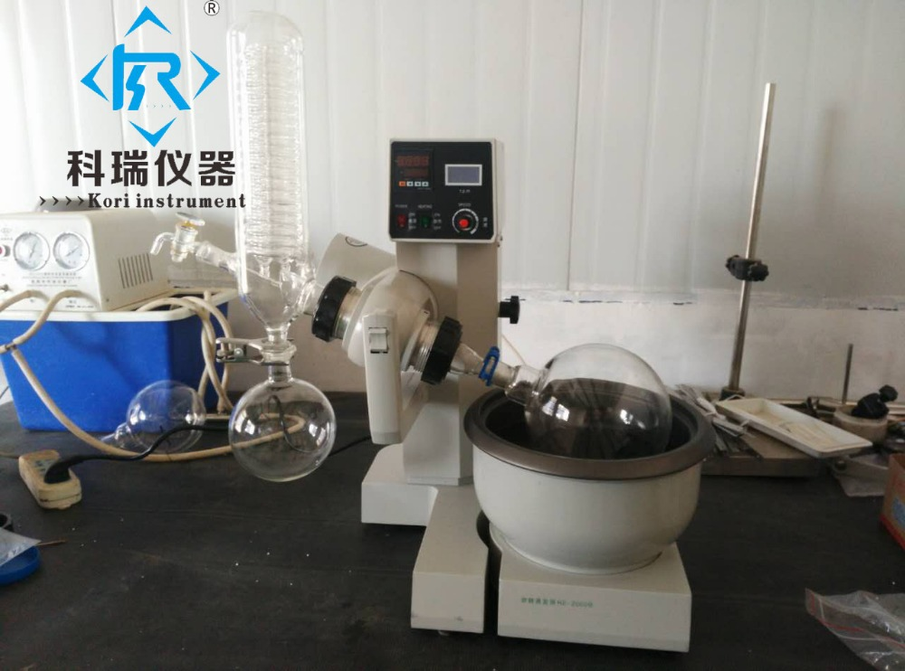 RE2000BLaboratory Mini Rotary Evaporator/ Rotovap with Heating Water Bath from Xingyang Kori Instrument Factory glass lab evaporator with 5l evaporative flask with vertical condensor heating water bath vacuum rotary evaporator rotovap