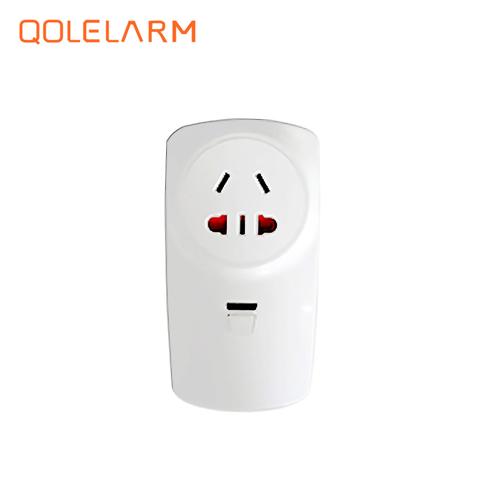 QOLELARM 433MHz Wireless RF smart national standard plug socket cell phone remote control home appliance automation wall charger wireless remote control power socket smart rf socket control power for home appliance compatible with g90b wifi gsm sms alarm