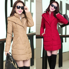 Женская зимняя одежда в длинный пуховик хлопка зимняя куртка студенты 20-25-30 лет