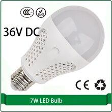 36 volt dc led bulbs 7W bulb solar panel bulb 36 volt led lamp led 36v e27 e26 B22 lampada