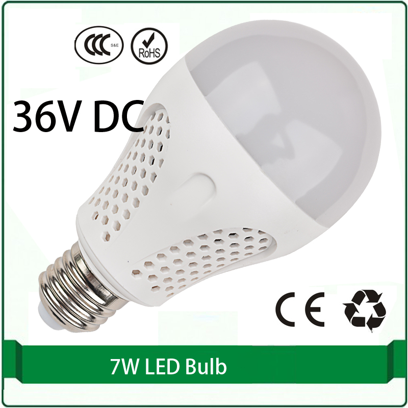 36 volt dc led bulbs 7W bulb solar panel bulb 36 volt led
