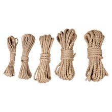 10M/lot 4/6/8/12mm Manual woven burlap Rope Natural Jute rope Twine String Cord Hemp for DIY Wed garden Wrap craft Decor