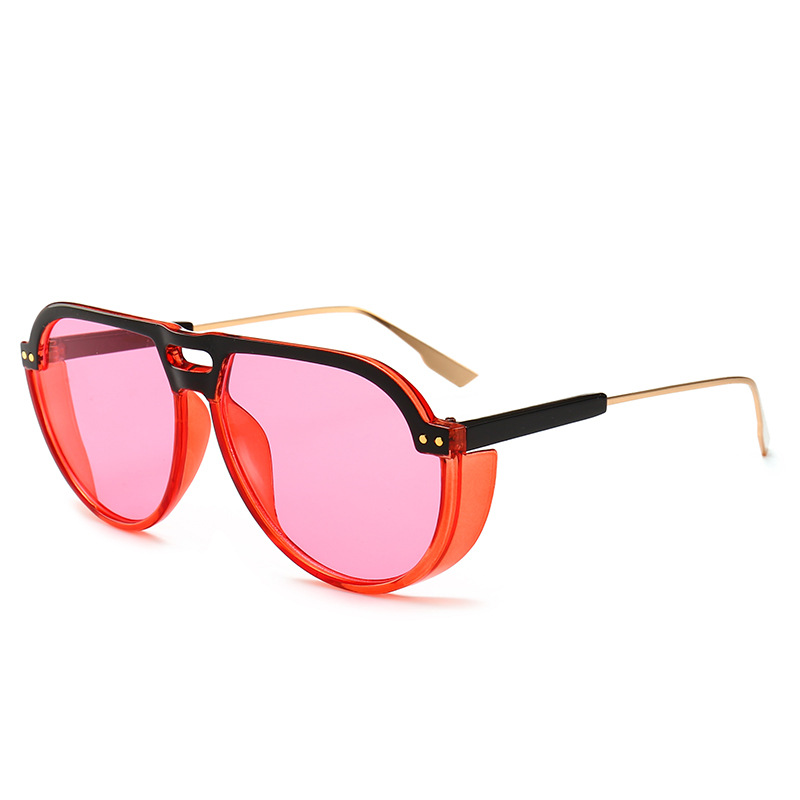 Fashion Retro Round Sunglasses Women Sun Glasses Lens Alloy Punk Style female Eyewear Frame Driver Goggles Car Accessories in Driver Goggles from Automobiles Motorcycles