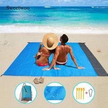 2M*2M Waterproof Beach Mat Blanket Outdoor Portable Picnic Mat Camping Ground Mat Mattress Outdoor Camping Picnic Mat Blanket цены