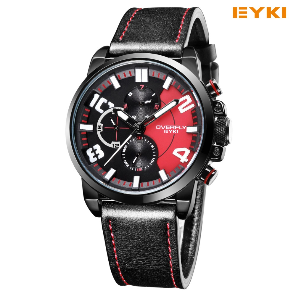 2018 Real New Eyki Large Dial Hombres Reloj Deportivo 30 m Moda - Relojes para hombres