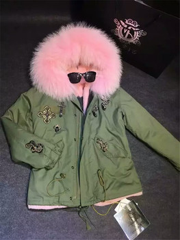 Хит продаж, женские зимние меховые пальто, розничная и оптовая продажа, новый стиль, розовый меховой светильник с отделкой бисером, другие ц