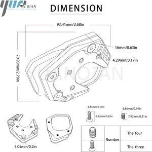 Image 5 - Для Honda X ADV CNC мотоциклетная боковая подставка для мотоцикла увеличенная подножка удлинитель для Honda XADV ampliar 2017 2018