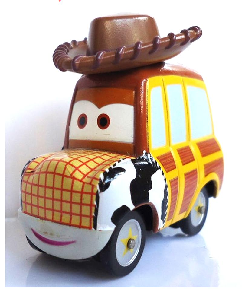 New Cars Pixar Woody Rare Toy 1:55 Diecast Models Vehicles