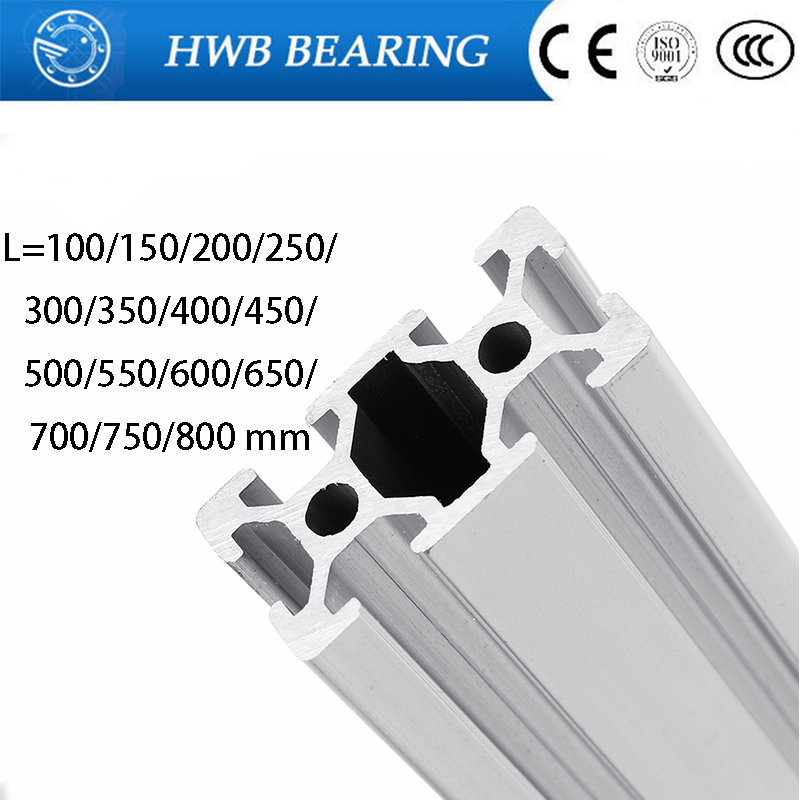 3D Printer Parts 2040  L=100~800 Mm Aluminum Profile European Standard Anodized Linear Rail Aluminum Profile 2040 Extrusion