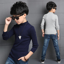 Casual Solid Sweaters for Boys Clothing Cotton Cardigan 2016 Autumn Boys Clothes Spring Kids Bottoming Shirts Tops 6 8 10 Years