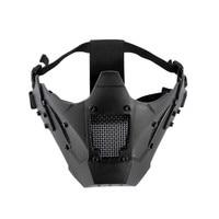 Onetigris airsoft malha máscara zm07 tático máscara de malha rosto cheio tpe máscara capacete rápido máscara