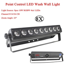 8Pcs/Lot Point Control LED Wall Wash 9x10W RGBW 4in1 Lighting Good For DJ Disco Party Dance Floor Nightclub Bar And Wedding Lamp