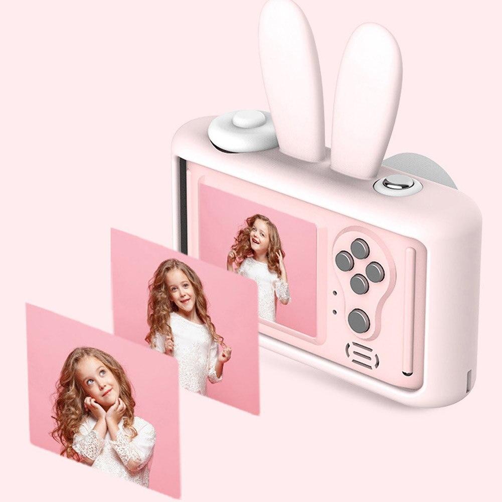 2 pouces HD écran Mini caméra numérique rechargeable enfants dessin animé mignon caméra jouets accessoires de photographie en plein air pour cadeau d'anniversaire enfant