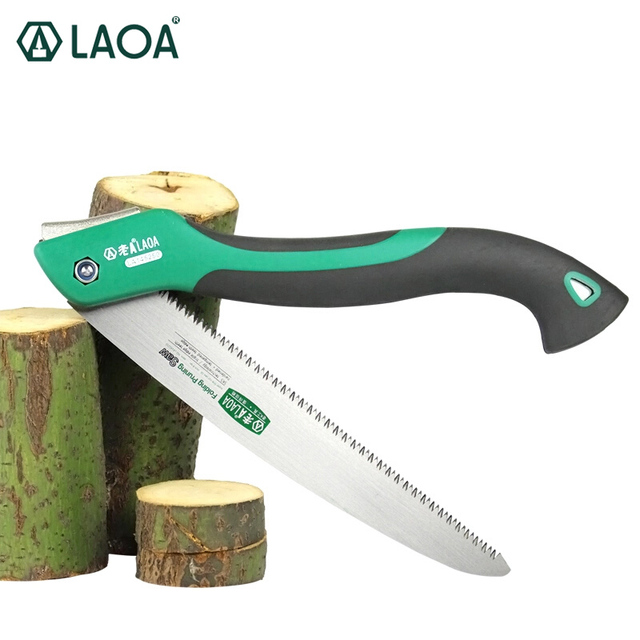 LAOA 10 inch 7T/9T/12T Wood Folding Saw Outdoor For Camping SK5 Grafting Pruner for Trees Chopper Garden Tools Unility Knife 1