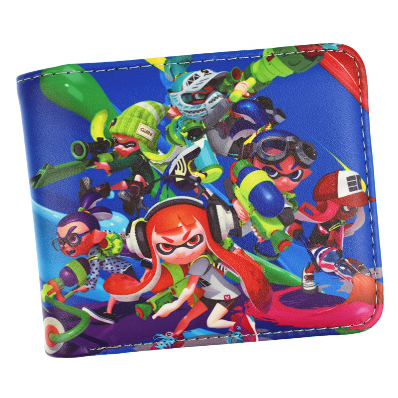 Game Splatoon Wallet Short Purse With Coin Pocket Money Bag For Young