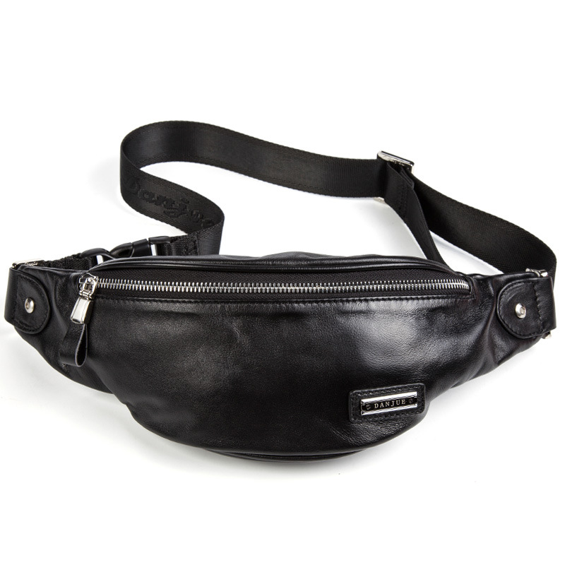 Купить с кэшбэком LXFZQ waist bag leather marsupio uomo a case for phone Real cowhide bum bag fanny pack men purse-bag handbag men's leather belt