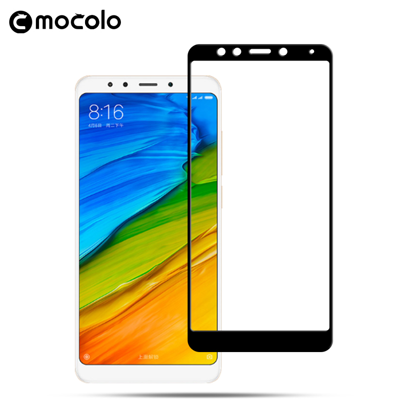 Galleria fotografica Mocolo 2.5D Curved 0.33mm Full Cover 9H Hard Screen Protector Tempered Glass For Redmi5 Protective Film For Redmi 5 PLUS&Note 5
