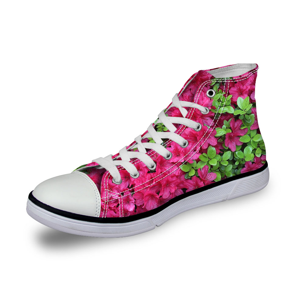 c0652ak Vulcanisé Toile Chaussures Vintage C0651ak Dames 3d Rose Sneakers Femmes High c0655ak Casual Filles Top c0653ak c0654ak Plat Noisydesigns akcustomized Fleur Imprimer CTwZq05q