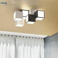 Nordic Creative Stacked Blocks Shapes Ceiling Lights for Living Room Bedroom Study Indoor Lighting Kitchen Modern Design Lamp