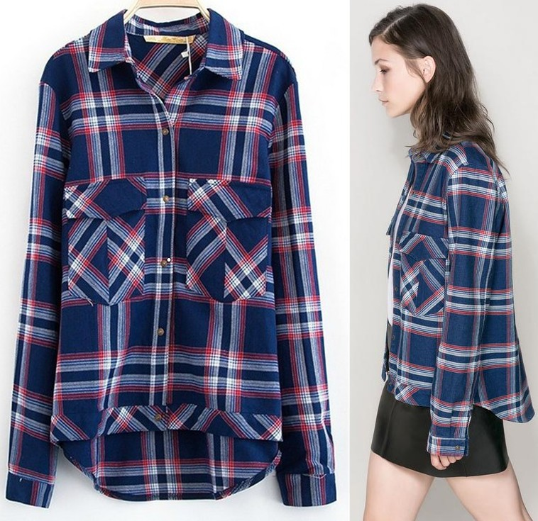 Red Tartan Shirt Womens
