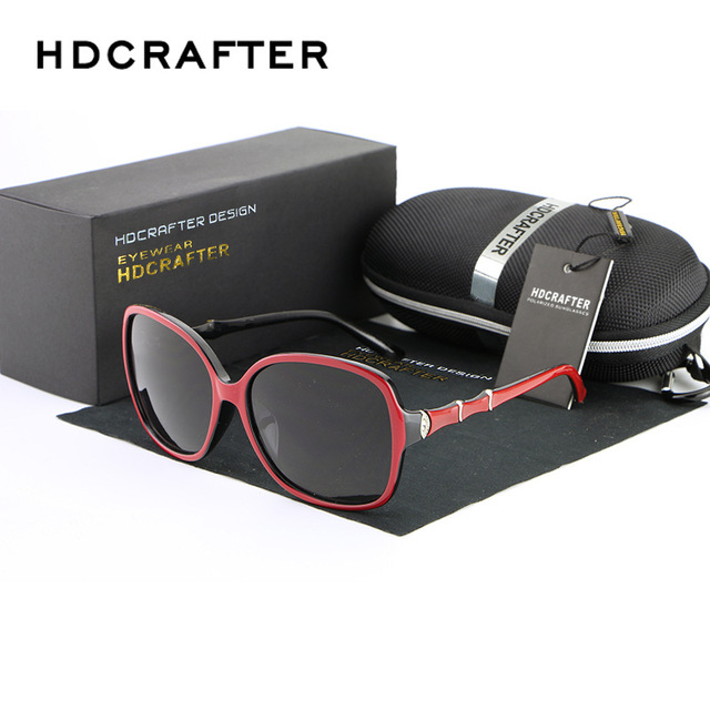 HDCRAFTER Luxury brand Women Polarized Sunglasses classic glasses anteojos de sol mujer Sunglasses for Female oculos de sol