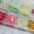 3000 pçs/caixa, 3 mm Mix strass geléia AB cores pedrinhas Nail art Deco Glitters Gems pedra e strass 11006