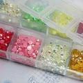 Acerca de 3000 unids/caja, 3 mm Rhinestone Mix Jelly colores AB rhinestones del arte del clavo Deco Glitters gemas piedras y diamantes de imitación 11006