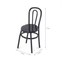 1:12 Chair In Dollhouse Scene Match Doll House Simulation Furniture Metal Chair
