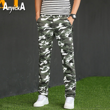 AmynickA Camouflage Pants Men 2017 New Men's Trousers Male Army Tactical Military Hunting Camping Hiking Fishing 2 Colors YB608
