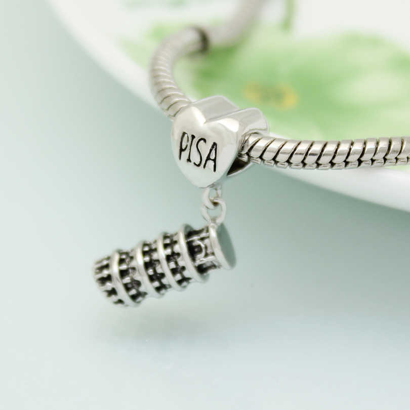 d589bf97c ... fashion jewelry DIY charm, European and American style Italian Pisa  leaning tower pendant beads Fit