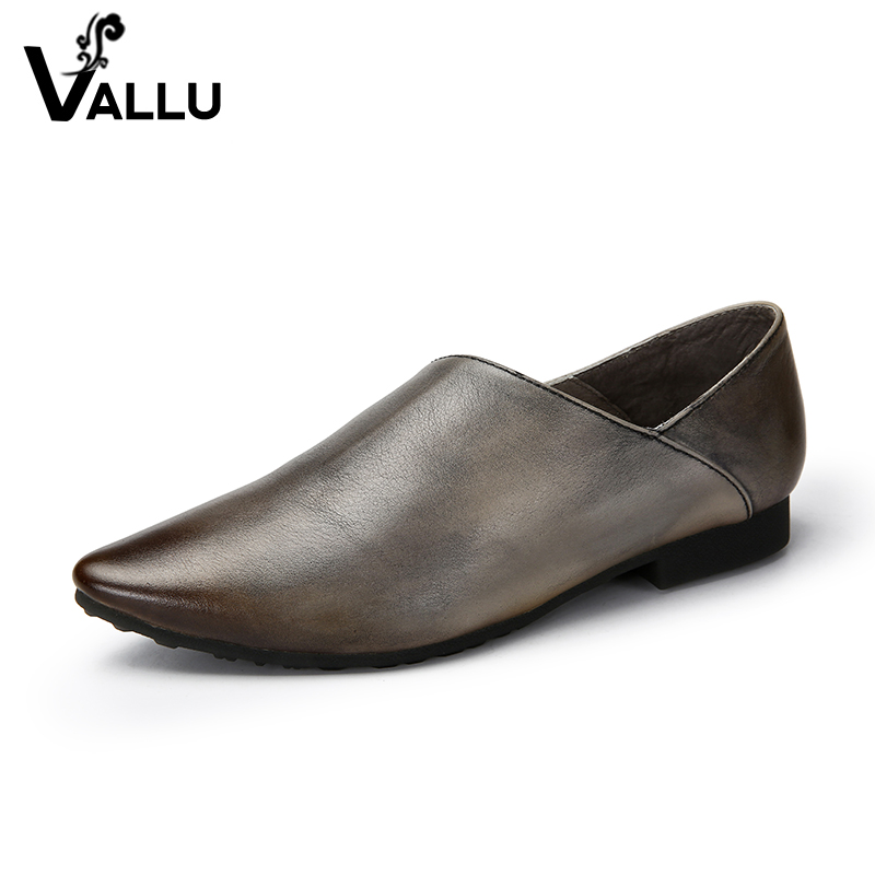 Super Soft Women Flat Shoes Soft New Style Ladies Flats Vintage Real Leather Famous Moccasin Girls Luxury Shoes vintage embroidery women flats chinese floral canvas embroidered shoes national old beijing cloth single dance soft flats