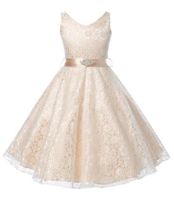 girls party wear dress kids 2016 flower lace children girls elegant  ceremonies wedding birthday dresses teenagers prom gowns e84684561d73