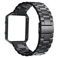 V MORO Stailess Steel Watch Band With Metal Frame House 2 In 1 Replacement Strap For