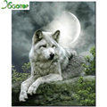Rhinestone painting crystal Home Decor DIY Diamond painting moon Wolf 3D cross stitch pattern diamond embroidery GT582