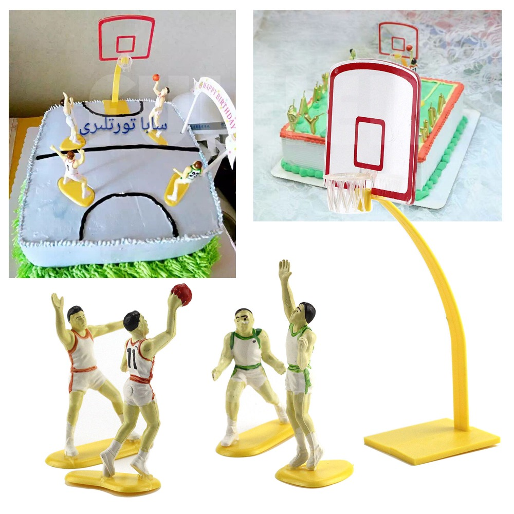 Fuleier Bakeware Store Polymer clay tools basketball player dolls cake decoration , birthday party Wedding Cake Topper Decorating fondant Cake tools