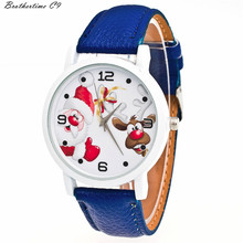 Brothertime C9 New Arrival Cute Christmas Aged Sample Leather-based Band Analog Quartz Vogue Watches #-090 Free Transport Wholesale