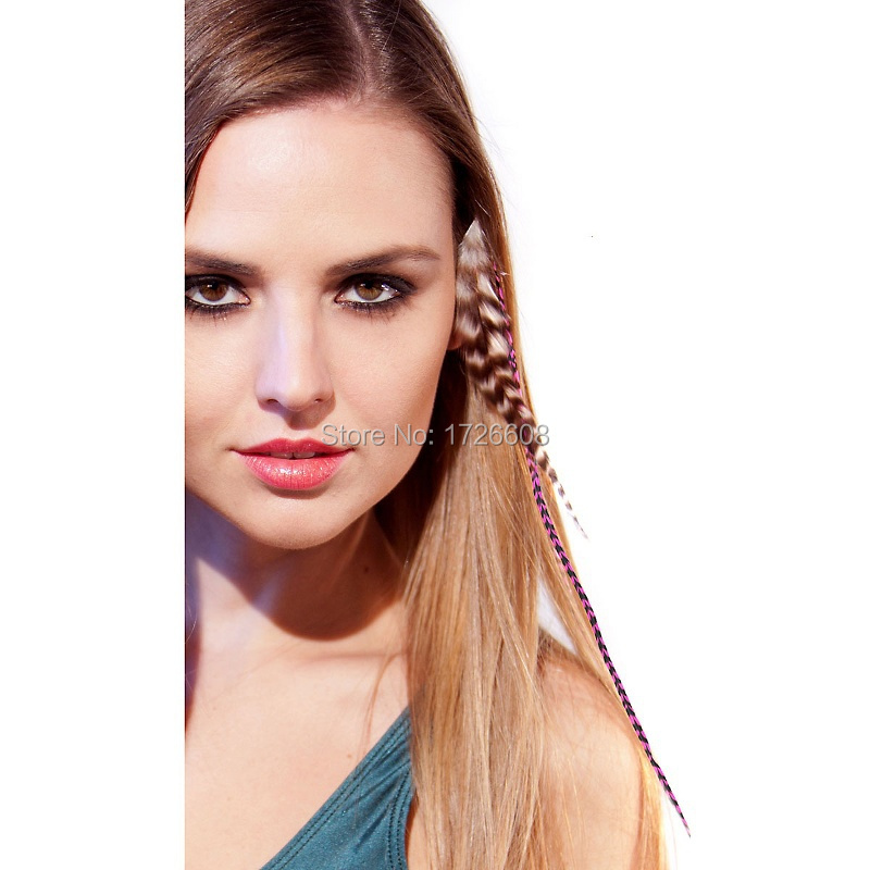 Color Mix Feather Hair Extensions Thin Hair Clips Bohemia Hair